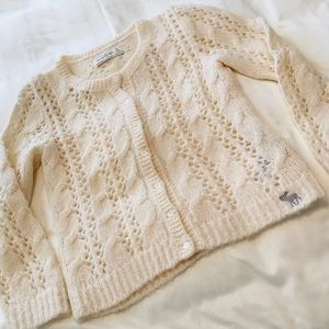 Abercrombie & Fitch Cable Knit Cardigan Size S